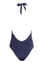 Halterneck swimsuit - Dark blue - Ladies | H&M CN 3